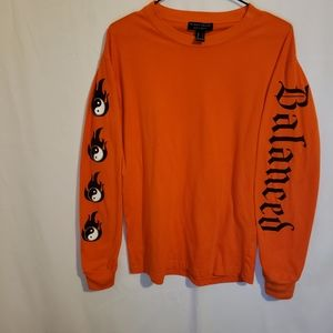 Streetcar society orange long sleeve tee balanced